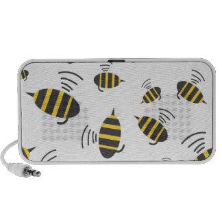 Buzzing Bumble Bee Cartoon iPod Speaker