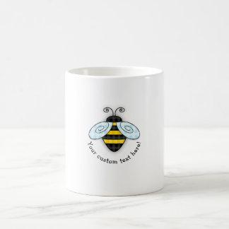 Buzzing Bumblebee and Honeycomb Icon Coffee Mug