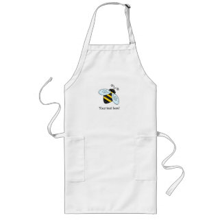 Buzzing Bumblebee and Honeycomb Icon Long Apron