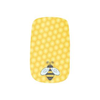 Buzzing Bumblebee and Honeycomb Icon Minx Nail Art