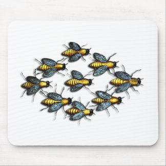 Buzzing Homey Bees Mouse Pad