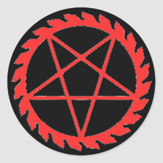 Buzzsaw Pentagram Sticker