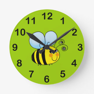 buzzy bee round clock