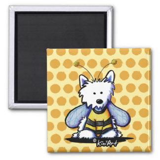 Buzzy Bee Westie Magnets
