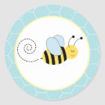 Buzzy Bees Bumble Bee Envelope Seals / Toppers 20 Round Sticker