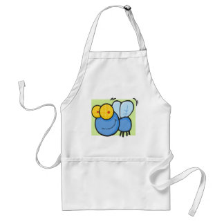 Buzzy the Fly with Green Background Standard Apron