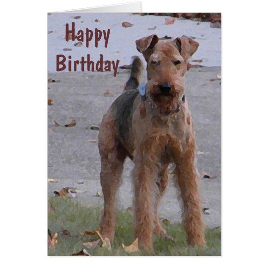BV- Cute Airedale Birthday Card