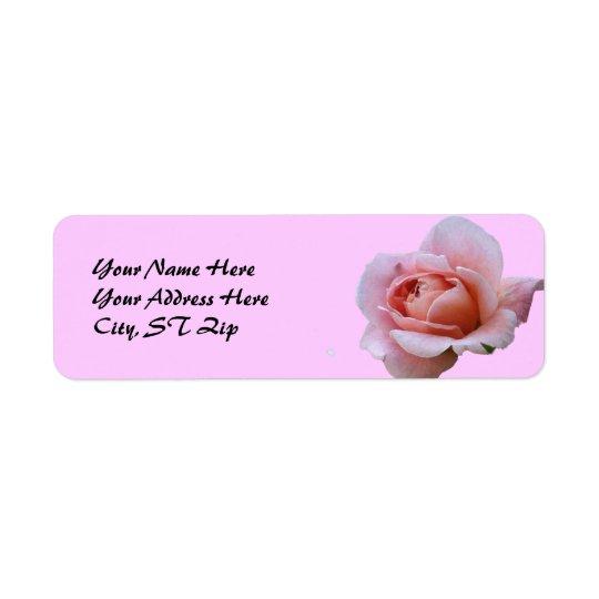 BV- Rose Floral Address Labels