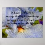 BV- Serenity Prayer Iris Poster