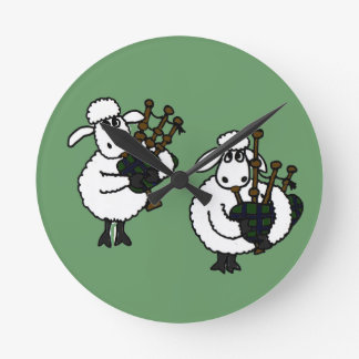 BV- Sheep Playing Bagpipes Clock