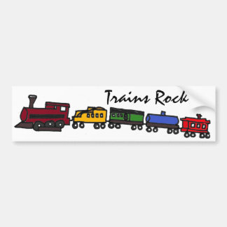 BV-Trains Rock Bumper Sticker Car Bumper Sticker