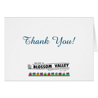 BVNA Thank You Cards! Card