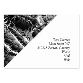 BW Abstract Fantasy Large Business Cards (Pack Of 100)