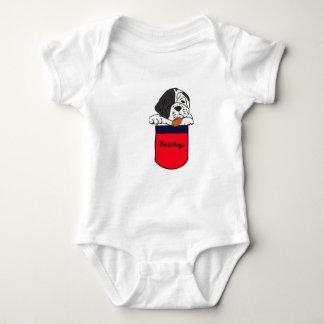 BW- Baby Bulldog in a Pocket Outfit Shirt