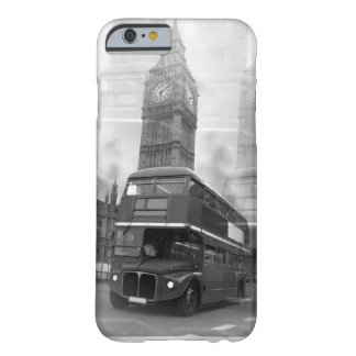 BW Black & White London Bus & Big Ben Barely There iPhone 6 Case