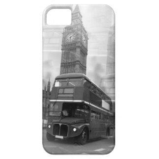 BW Black & White London Bus & Big Ben iPhone 5 Cases