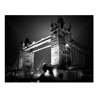 BW Black White London Tower Bridge Post Cards