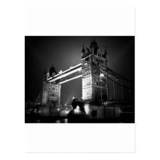 BW Black & White London Tower Bridge Postcard