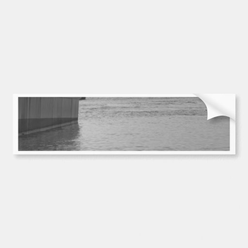 BW Boat on the beach - sunset on the beach Bumper Sticker