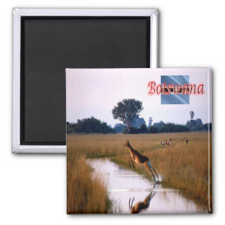 BW - Botswana - Flying Female Lechwe Magnet