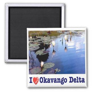 BW - Botswana - Okavango Water Lillies - I Love Magnet