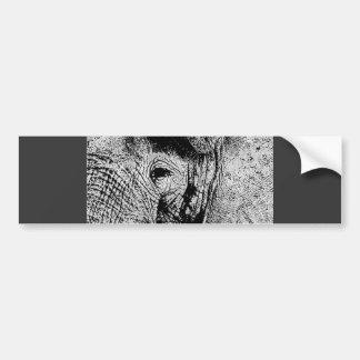 BW Elephant Eye Bumper Sticker