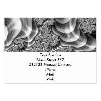 BW Fractal Stripes Pack Of Chubby Business Cards