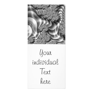 BW Fractal Stripes Personalised Rack Card