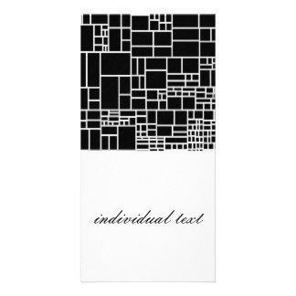 BW Geometric Pattern Phil Picture Card