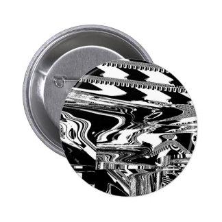 BW Glitch 1 (BW) 6 Cm Round Badge