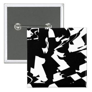 BW Glitch 2(BW) 15 Cm Square Badge