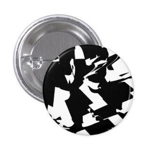 BW Glitch 2(BW) 3 Cm Round Badge