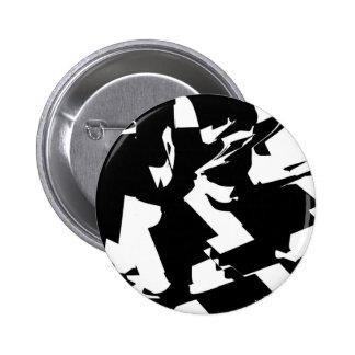 BW Glitch 2(BW) 6 Cm Round Badge