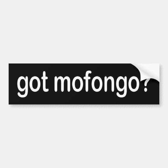 BW_got_mofongo Bumper Sticker