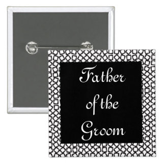 BW Groom Father 15 Cm Square Badge