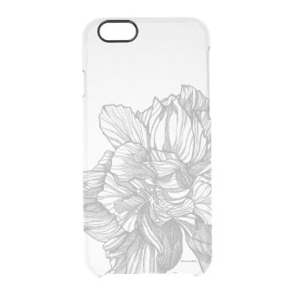 BW Hibiscus iPhone Case