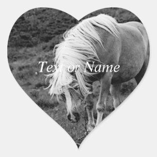BW Horse Heart Sticker