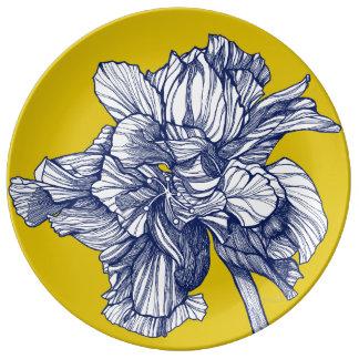 BW Hybrid Hibiscus Mediterranean Porcelain Plate