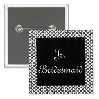 BW Jr. Bridesmaid 15 Cm Square Badge
