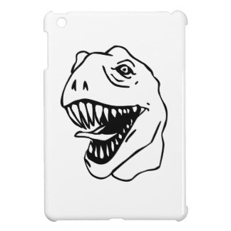BW Lineart T Rex Cover For The iPad Mini