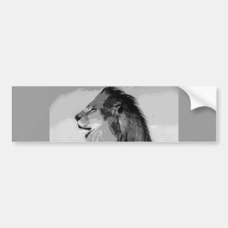 BW Lion Bumper Sticker