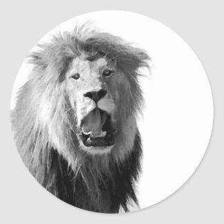 BW Lion Stickers
