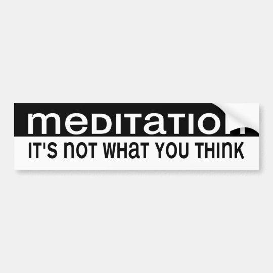 BW_meditation Bumper Sticker