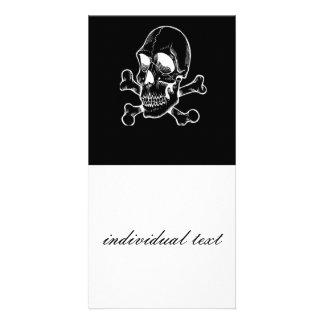 BW Skull 315 Photo Card Template