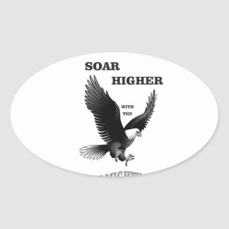 bw soar higher with god oval sticker