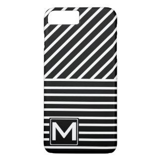 BW Stripes Monogram iPhone 7 Plus Case