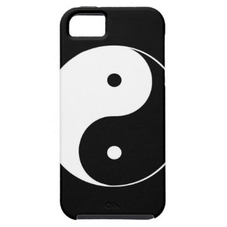 BW Yin Yang Black Background iPhone 5 Case