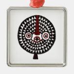 Bwa Sun African Masks_Metal Art Decor Ornaments