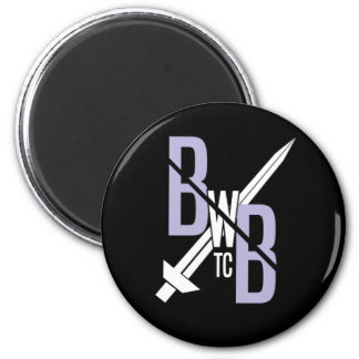 BWB New Logo Stamp Manget 6 Cm Round Magnet