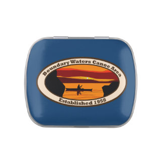 BWCA Emblem with Canoe Candy Tins
